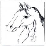 Ausmalbilder Tiere - Malvorlagen pferde