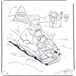 Malvorlagen Winter - Malvorlagen schlitten
