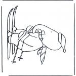 Ausmalbilder für Kinder - Malvorlagen schlittschuh