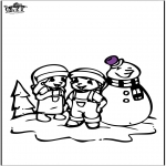 Malvorlagen Winter - Malvorlagen Schneemann 2