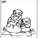 Malvorlagen Winter - Malvorlagen Schneemann 3