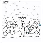 Malvorlagen Winter - Malvorlagen schneemann 4