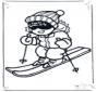 Malvorlagen ski