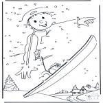 Malvorlagen Winter - Malvorlagen snowboard