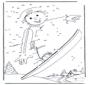Malvorlagen snowboard