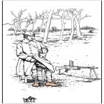 Allerhand Ausmalbilder - Malvorlagen Soldaten 1