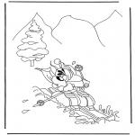 Ausmalbilder Comicfigure - Malvorlagen winter