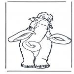 Ausmalbilder Tiere - Mammut