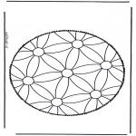 Basteln Stechkarten - Mandala 1