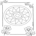 Malvorlagen Mandalas - Mandala 10