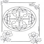 Malvorlagen Mandalas - Mandala 14