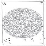 Malvorlagen Mandalas - Mandala 18