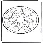 Basteln Stechkarten - Mandala 2