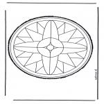 Basteln Stechkarten - Mandala 25