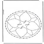 Basteln Stickkarten - Mandala 27