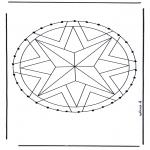 Basteln Stickkarten - Mandala 28