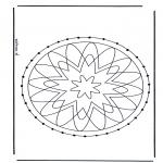 Basteln Stickkarten - Mandala 29