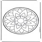 Basteln Stechkarten - Mandala 3
