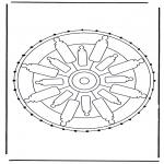 Basteln Stickkarten - Mandala 32