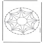 Basteln Stickkarten - Mandala 33