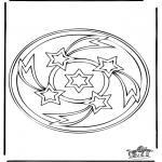 Malvorlagen Mandalas - Mandala 34