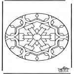 Malvorlagen Mandalas - Mandala 35
