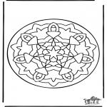 Malvorlagen Mandalas - Mandala 36