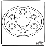 Malvorlagen Mandalas - Mandala 37