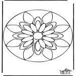 Malvorlagen Mandalas - Mandala 38