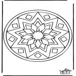 Malvorlagen Mandalas - Mandala 39