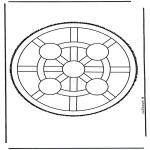 Basteln Stechkarten - Mandala 4