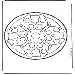 Basteln Stechkarten - Mandala 5