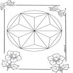 Malvorlagen Mandalas - Mandala 6