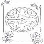 Malvorlagen Mandalas - Mandala 7