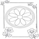 Malvorlagen Mandalas - Mandala 8