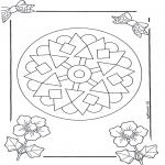 Malvorlagen Mandalas - Mandala 9