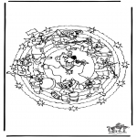 Malvorlagen Mandalas - Mandala Bär