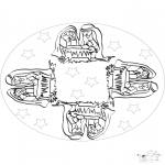 Malvorlagen Mandalas - Mandala Christkind