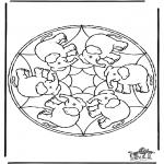 Malvorlagen Mandalas - Mandala Elefant