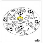 Malvorlagen Mandalas - Mandala Fußball 3