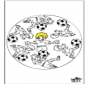 Mandala Fußball 3