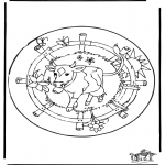 Malvorlagen Mandalas - Mandala Kuh