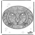 Malvorlagen Mandalas - Mandala Löwe