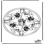 Malvorlagen Mandalas - Mandala Maus 2