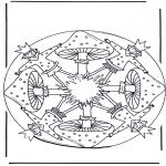 Allerhand Ausmalbilder - Mandala mit Pilz 1