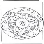 Allerhand Ausmalbilder - Mandala mit Pilz 2