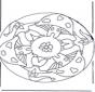 Mandala mit Pilz 2
