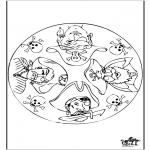 Malvorlagen Mandalas - Mandala Pirat