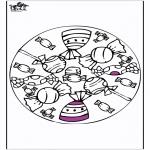 Malvorlagen Mandalas - Mandala Schokolade und Lutscher