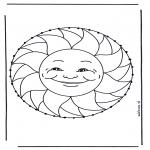 Basteln Stickkarten - Mandala Sommer